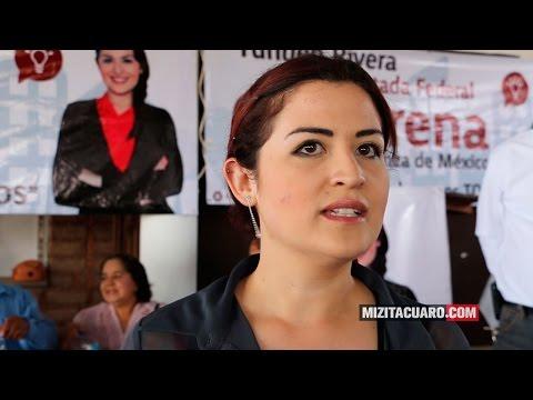 Yunuen Rivera Escutia candidata a Diputada Federal por Morena inició campaña en Zitácuaro