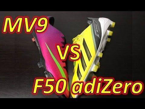 Nike Mercurial Vapor 9 IX VS Adidas F50 adizero miCoach 2 - Comparison