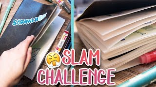 FILLING A WHOLE SKETCHBOOK Using 4 ScrawlrBoxes - Mini Sketchbook Slam Challenge
