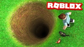 JUMPING INTO A BOTTOMLESS PIT IN ROBLOX