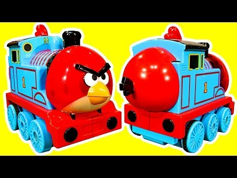 Thomas Angry Bird Tank Surprise Egg Shake N Go Thomas And Friends Toy How To Make video