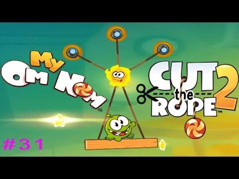 Ам Ням Cut the Rope 2 #31 (уровни 156-161) Детское видео Игровой мультик Let's play