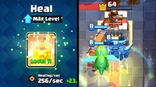 Clash Royale - MAXED HEAL SPELL! Crazy Heal Deck