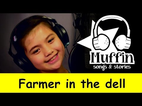 Muffin Songs - Farmer in the Dell  | nursery rhymes & children songs with ly