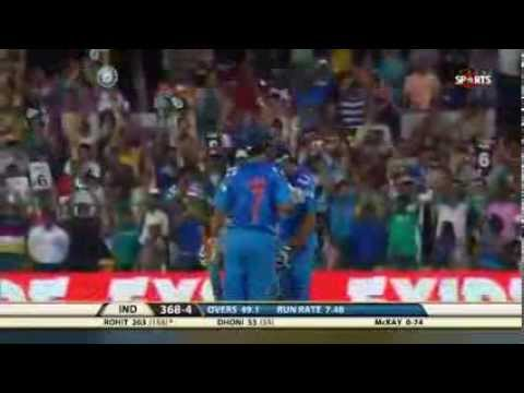 Rohit Sharma Double Century  India Vs Australia 2013 Video