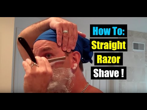 DOVO STRAIGHT RAZOR SHAVE FULL HOLLOW GROUND BLADE Wet Shaving First Pass with Grain Cut Throat