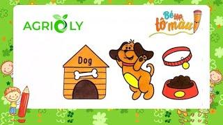 Bé Tập Tô Màu | Bé Tập Vẽ Và Tô Màu Con Chó