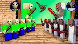 Monster School: Tiny Baldis Vs Tiny Granny Apocalypse Challenge - Minecraft Animation
