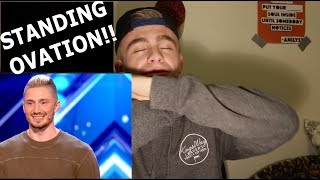 Magician REACTS to Tom London on America's Got Talent (Tech Magic)