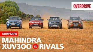 Mahindra XUV300 v Maruti Suzuki Vitara Brezza, Tata Nexon & Ford EcoSport | OVERDRIVE