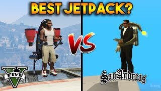 BEST JETPACK? (GTA 5 VS GTA SAN ANDREAS)