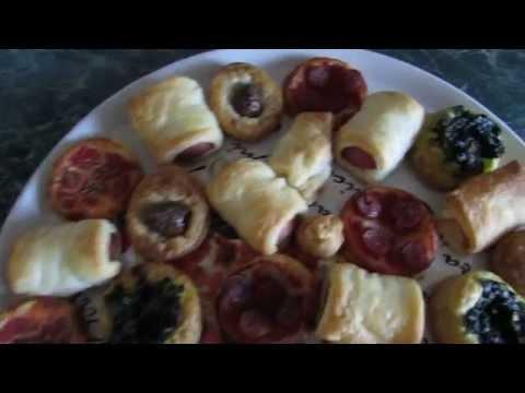 Легкая итальянская закуска. Салатини и пиццетте. Salatini e pizzette