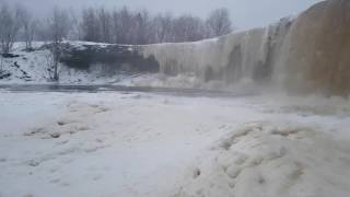 Jagala winter waterfall Estonia