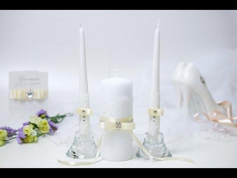 Свечи на свадьбу своими руками мк