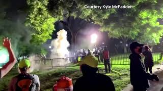 Police fire tear gas at protesters outside the White House