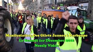 Manifestation Des Gilets Jaunes à Narbonne