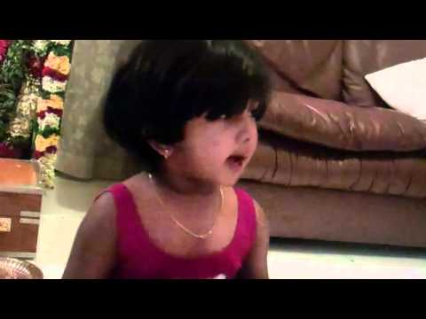 2 Year Old Shruti Chanting Gita Chapter 11 video