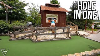 Double Mini Golf Hole In One at this Fun Mini Golf Course!