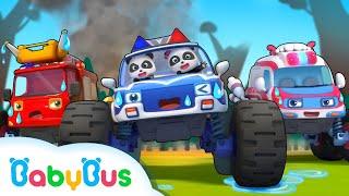 Mobil Monster Dan Mobil Pemadam Kebakaran  | Lagu Anak-anak | Bahasa Indonesia | BabyBus