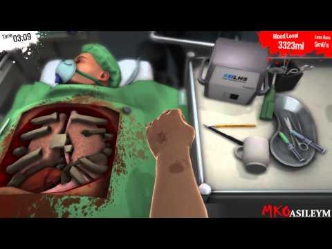 MKOasileym и mr.Denet (доктор Дэнэт) делают операцию на сердце в Surgeon simulator 2013