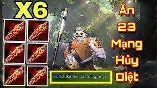 [Gcaothu] 30 phút nghẹt thở zuka ăn 23 mạng khi lên 6 trang bị Nanh Fenrir - trận đấu lịch sử