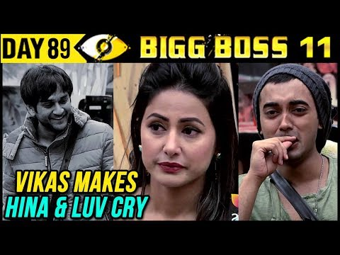 Vikas Makes Hina And Luv CRY |  Day 89 Bigg Boss 11 | 29th December 2017 Full Episode Update thumbnail
