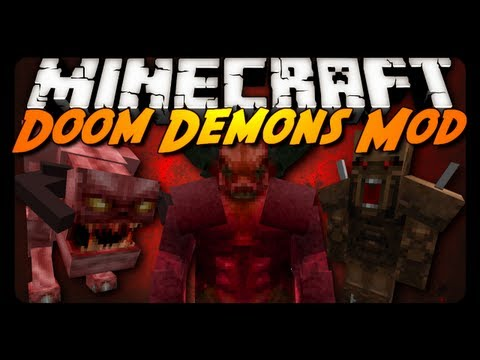 Minecraft Mod Review: DOOM DEMONS MOBS!