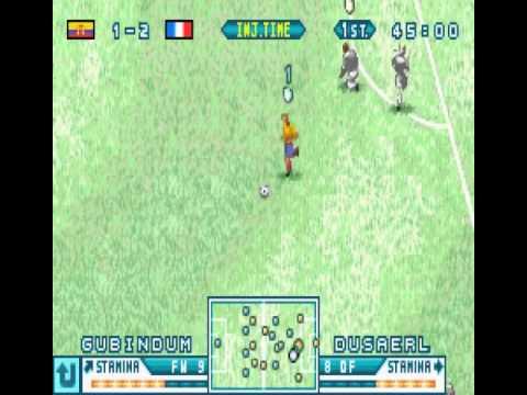 Retrogaming Fifa World Cup 2014 : Ecuador France (ISS Advance Game Boy Advance)