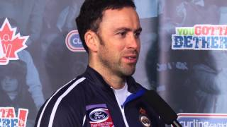 Draw 15 Media Scrum - 2013 Ford World Men&#039;s Curling Championship