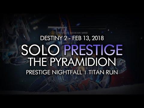Destiny 2 - Solo Prestige Nightfall: The Pyramidion (Titan - Week 24)