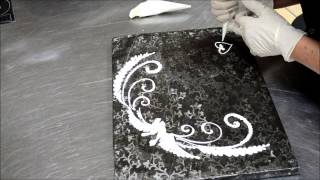 Fancy Piping Decoration - Decorating Cake with Piping