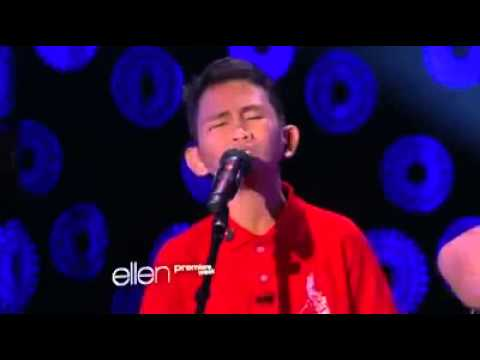 [2013] PROUD FILIPINO KID WOWS ELLEN DEGENERES WITH GOLDEN VOICE!