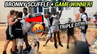 BRONNY JAMES HIT THE GAME WINNER! Blue Chips Win INTENSE Triple Overtime Game! BRONNY IS CLUTCH 😱