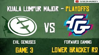 [Highlights] EG vs Forward Gaming   GAME 3   The Kuala Lumpur Major   Playoffs - Lower Bracket R2