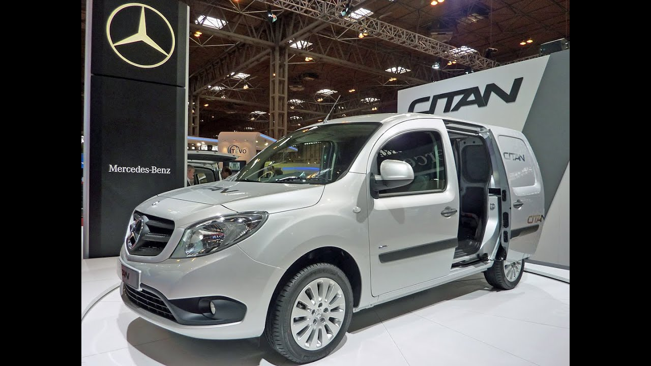 Mercedes benz citan new van on turntable display at for Mercedes benz commercial trucks