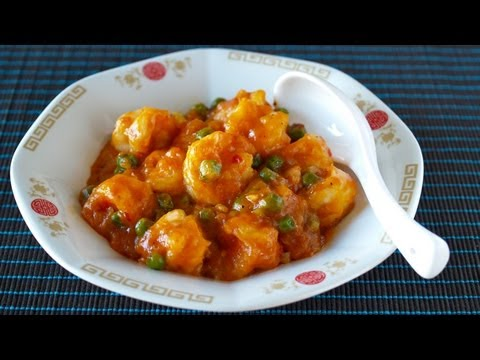 How to Make Ebi Chili (Chile Prawns/Shrimp) Recipe 簡���格����������