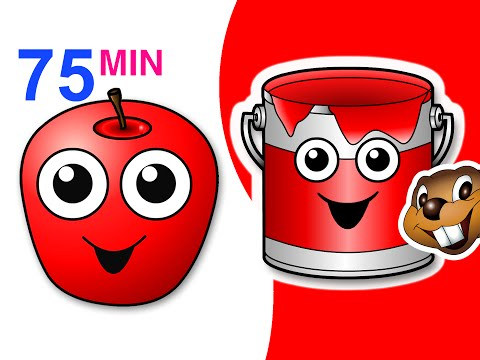 Red Apple Songs Collection | 75 Mins Of Nursery Rhymes | Busybeavers Teach Fruit Surprise Eggs More video