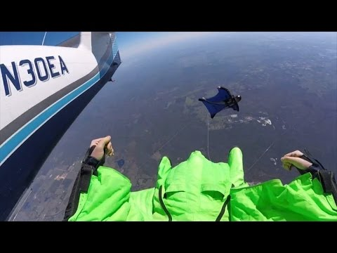 Mid Air Wingsuit Collision