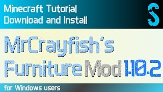 MRCRAYFISH'S FURNITURE MOD 1.10.2 minecraft - how to download and install (with forge on Windows)
