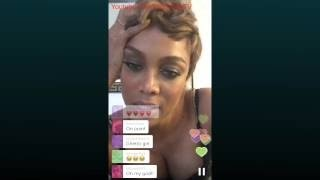 Tyra Banks Periscope 10/09/2015