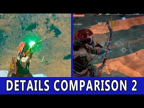 Zelda Breath of The Wild VS Horizon Zero Dawn | Details Comparison 2