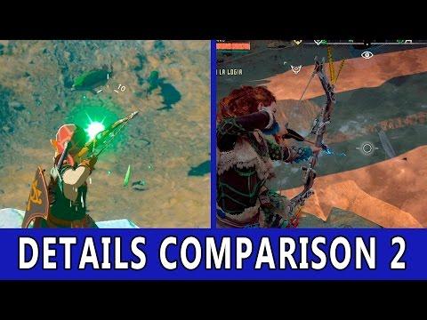 Zelda Breath of The Wild VS Horizon Zero Dawn | Details Comparison 2