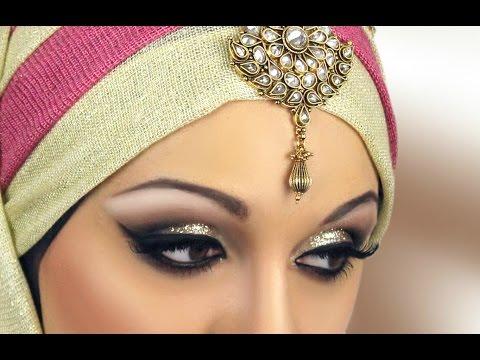 Gold Glitter Asian Bridal Makeup