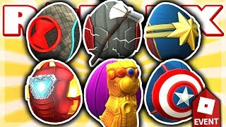 HOW TO GET ALL 6 AVENGERS EGGS in EGG HUNT Event 2019!! (Roblox: Scrambled In Time)