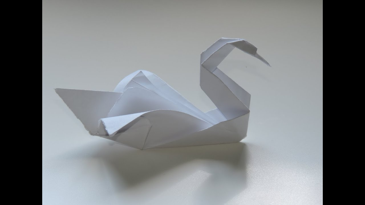 Origami swan easy instructions full hd youtube for Origami swan folding instructions