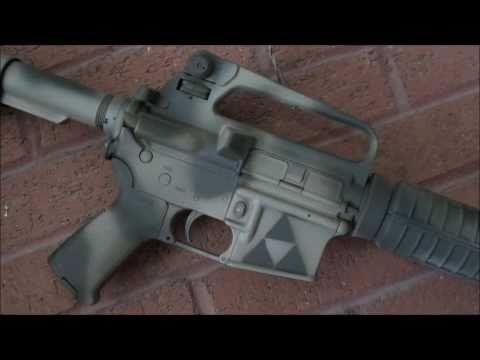 AR-15 Krylon Camo Job