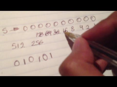 Pasar de numeros decimales a numeros binarios.