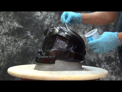 Helmet Mold Tutorial: Gel-25 1 Piece Mold Halo Helmet