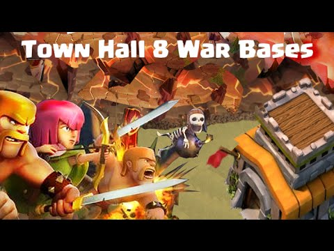 Clash of Clans Town Hall 8 Defense - Trophy / War Base Layouts