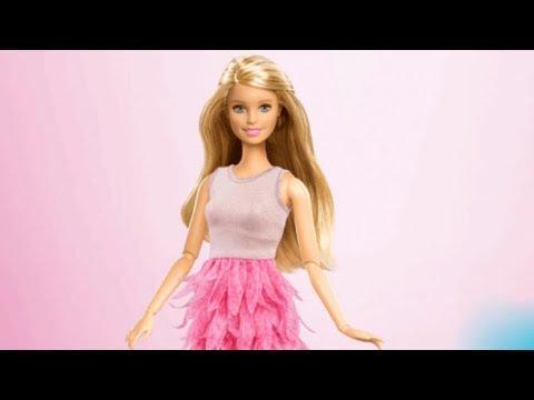 Colorful learning game Barbie fashionistas posing photoshoot and clothing stylist cartoon for kids